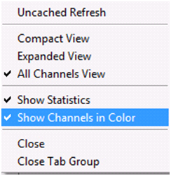Activate Show Channels In Color
