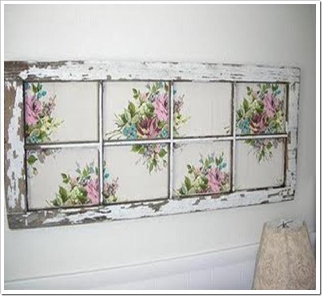 quadro com janela floral