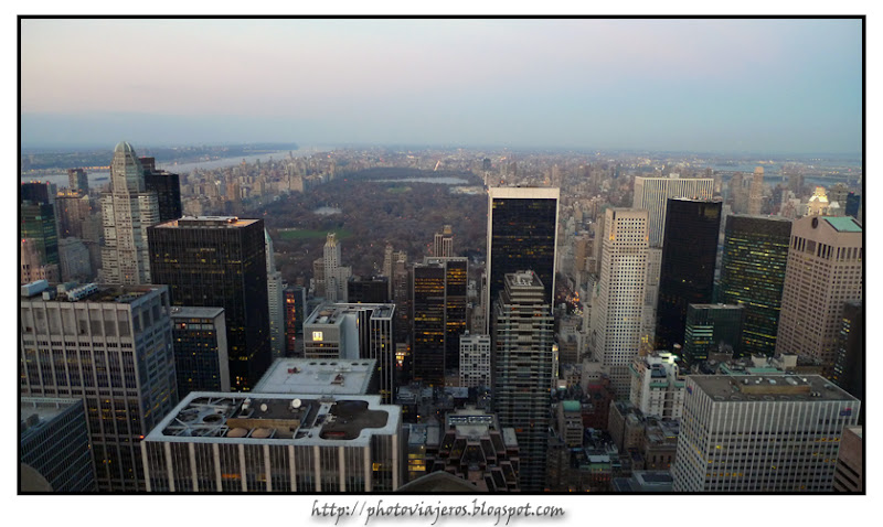 Atardecer sobre Central Park