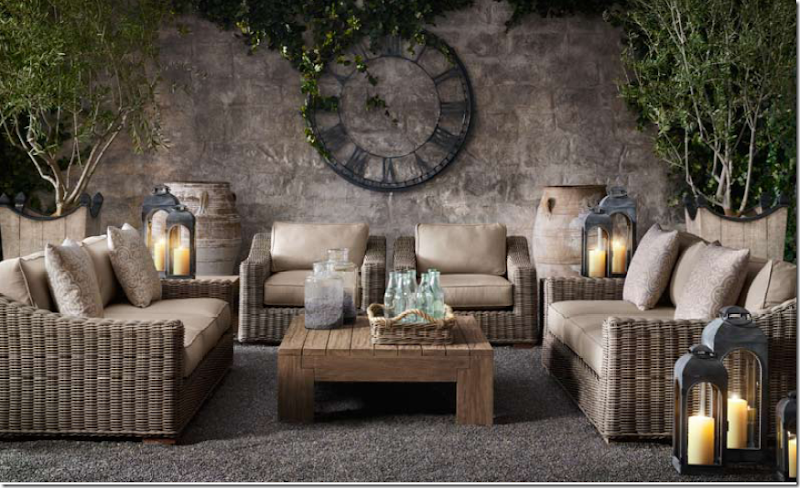 Of course Restoration Hardware is all over the gray wicker. They call ...