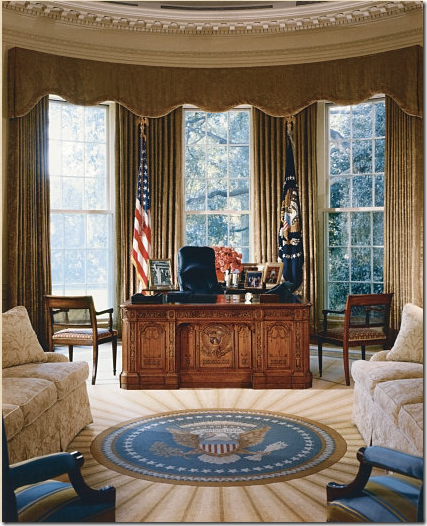 COTE DE TEXAS: The Oval Office: Before & After!!