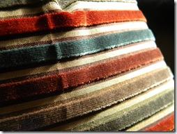 Velvet stripe close up