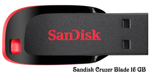 Sandisk Cruzer Blade 16 GB Flash Drive Image Dell