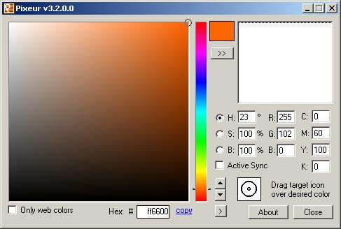 Pixeur Colour Picker image Color Selector hex download
