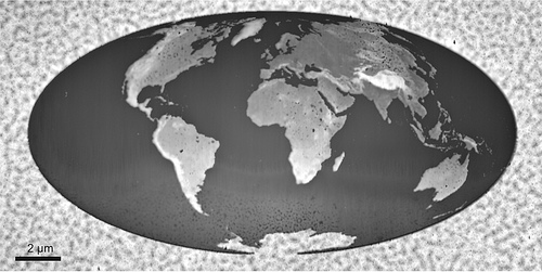 World&#39;s Smallest nanosized 3D Map of Earth by IBM scientist image