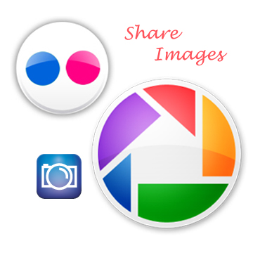 Flickr fliker Picasaweb Photobucket orb logo image