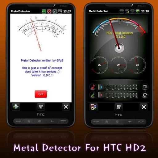 metal detector app for HTC HD2 Magic android phone sensor earth magnetic field, convert Phone into Metal Detector app