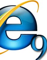 Microsoft Launches Internet Explorer 9 IE9 in Beauty of the web event in san Francisco logo image IE 11 IE 10 lynx engine based