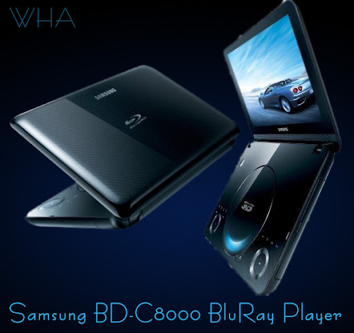 Samsung BD-C8000 3D First Portable BluRay Player with 3D capabilty
