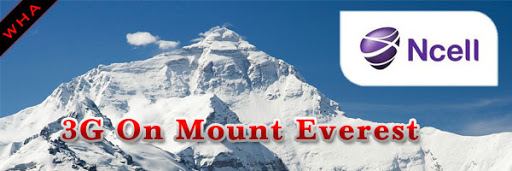NCELL Connects Everest with 3G Network, No More Satellite Phones Free india free 3g 4g India airtel logo mount Everest image