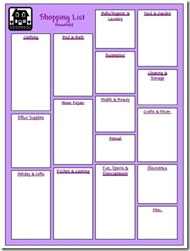 Household Planner Shopping List Household view Medium