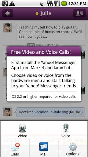 Yahoo 即時通語音和視訊外掛程式