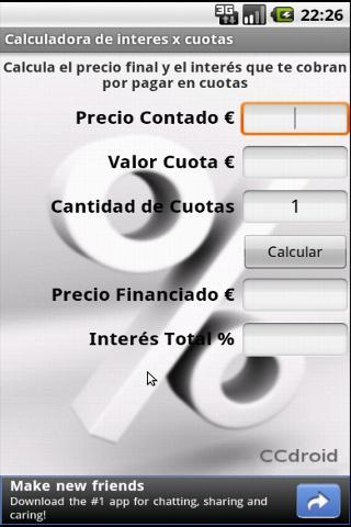 Calculadora de interés