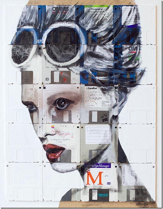 Arte com disquetes more freak show blog (2)