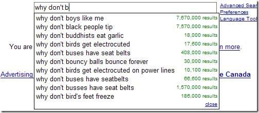 estranhas sugestões de Pesquisa do Google 11