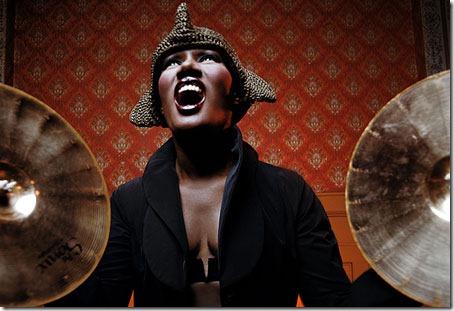 Grace Jones cymbals