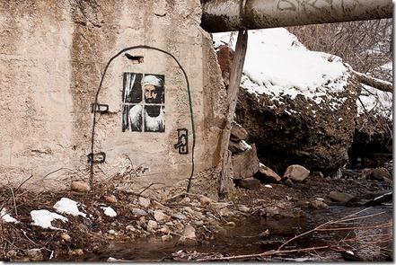 More freak show Banksy_locates_Osama_City_Creek