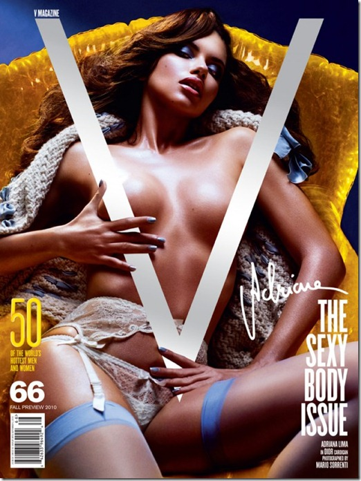 V magazine cover   The Sexy Body Issue1 sabeli Fontana, Adriana Lima, Lily Donaldson, Eniko Mihalik e Natasha Poly  (1)