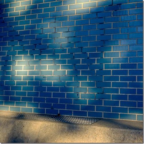 Still Life, Color Study, Urban, blue wall, shadows, dapple light