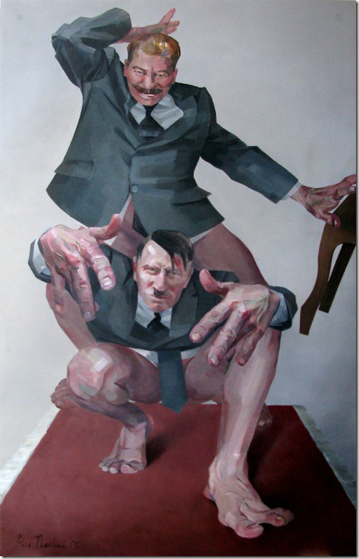 Retrato de portrait of Hitler e Stalin por Alla Tkachuk  (2)