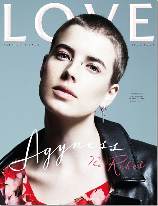 Agyness Deyn Rebel love magazine