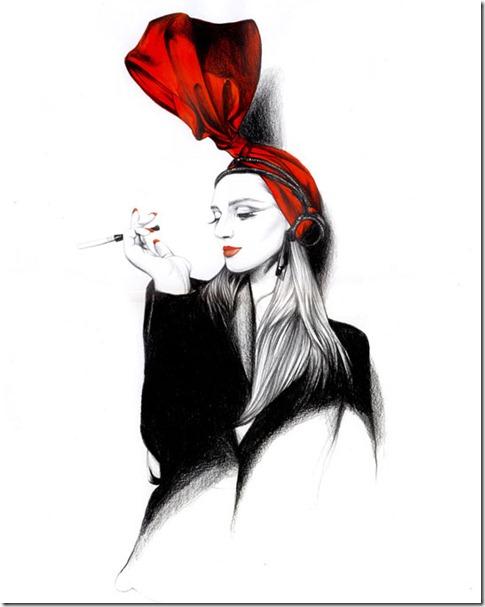 Fashion Ilustração  Caroline Andrieu  Portfólio (7)