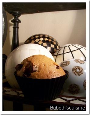 muffin marron chocolat