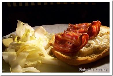 faluche gorgonzola pancetta salade endive pomme