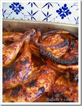 spare ribs et cuisses de poulet