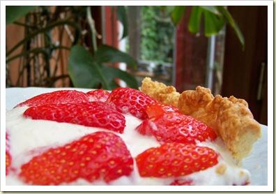 tarte fraises morceau