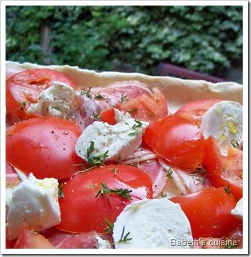 tarte au gorgonzola crue