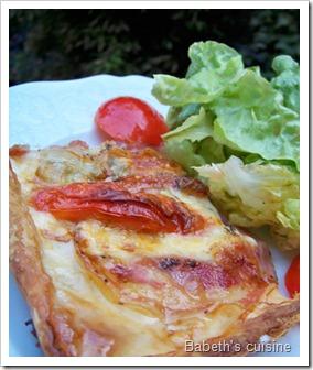 tarte au gorgonzola morceau