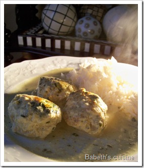 boulettes poulet