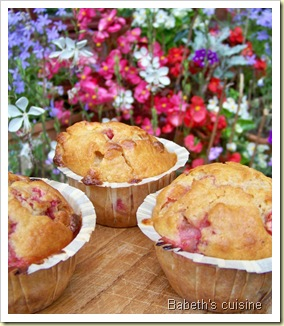 muffins fraises chocolat blanc