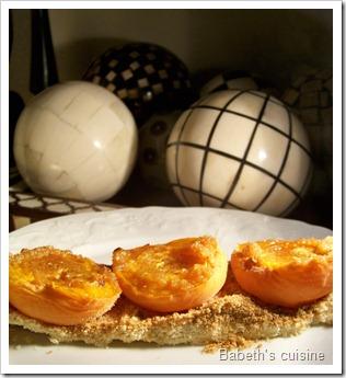 tarte aux abricots improvisée