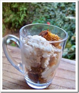 glace yaourt et carrot cake