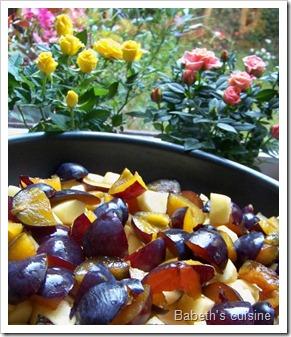 fruits pour crumble pommes quetsches