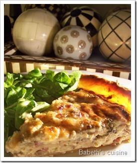 tarte oignons champignons roquefort