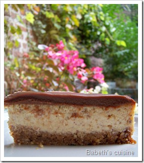 cheese cake praliné2