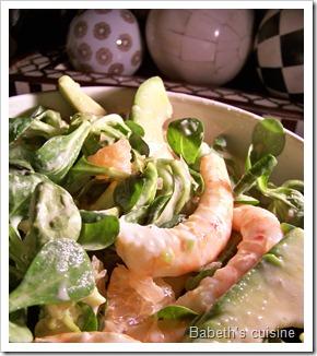 salade pamplemousse avocats crevettes