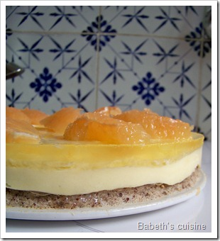 dacquoise noisettes crème légère pamplemousse