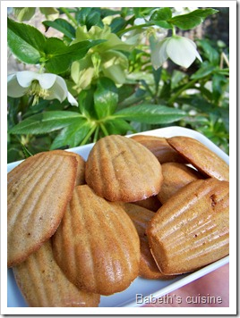 fausses madeleines orange noisette