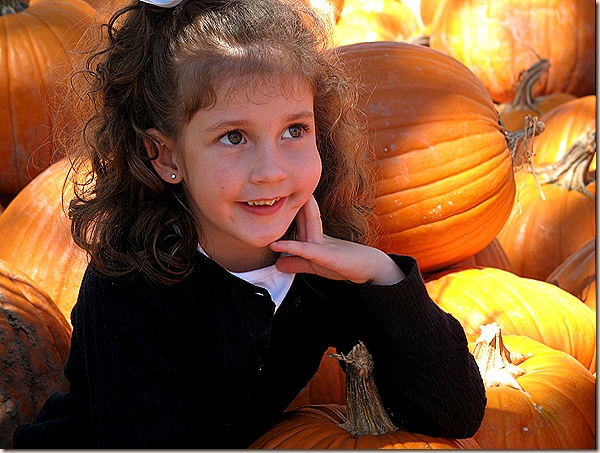 Abby in Pumpkins