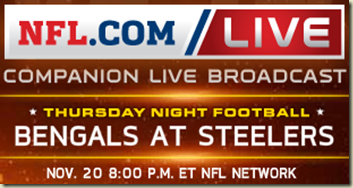 watch bengals vs steelers live game online