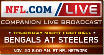 watch bengals vs steelers live game online