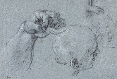 Dessin de Annibale Carracci - Collection du Musée de Grenoble