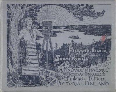 Kirjan kansi. I. K. Inha. Suomi kuvissa. Hagelstam. 1895.
