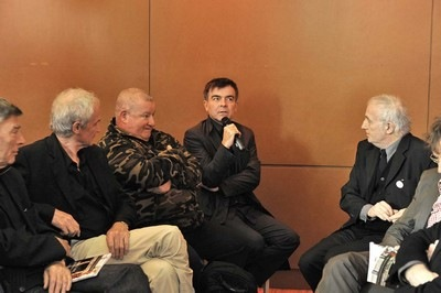 Photo de Jean Pierre Bertrand, Jean Pierre Raynaud, Claude Lévêque et Fabrice Hyber