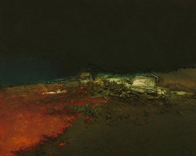 Une des oeuvres exposées par Domnique Haab-Camon à la Galerie du Présidial à Quimperlé