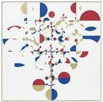 GABRIEL OROZCO, Kites Trees, 2005. Peinture polymère synthétique sur toile